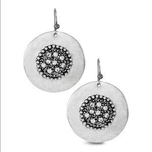Round Sliver Earrings
